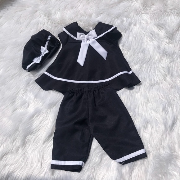 RARE EDITIONS® Baby 18M NAUTICAL DRESS W//SAILOR COLLAR//PANTY//HAT NWT